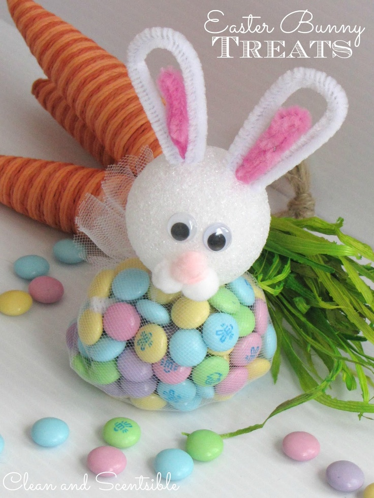 Clean & Scentsible: Easter Bunny Treats.  Super quick and easy to make.