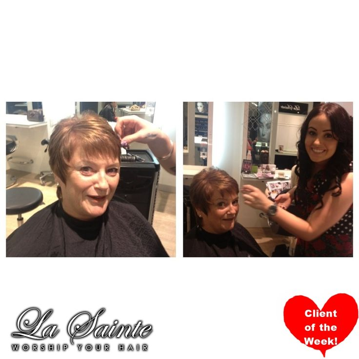 Another happy client of the week! Chris Murray wins a complimentary shampoo & Blowdry just for being an amazing client! #lasainte #lasaintehair #robinatowncentre