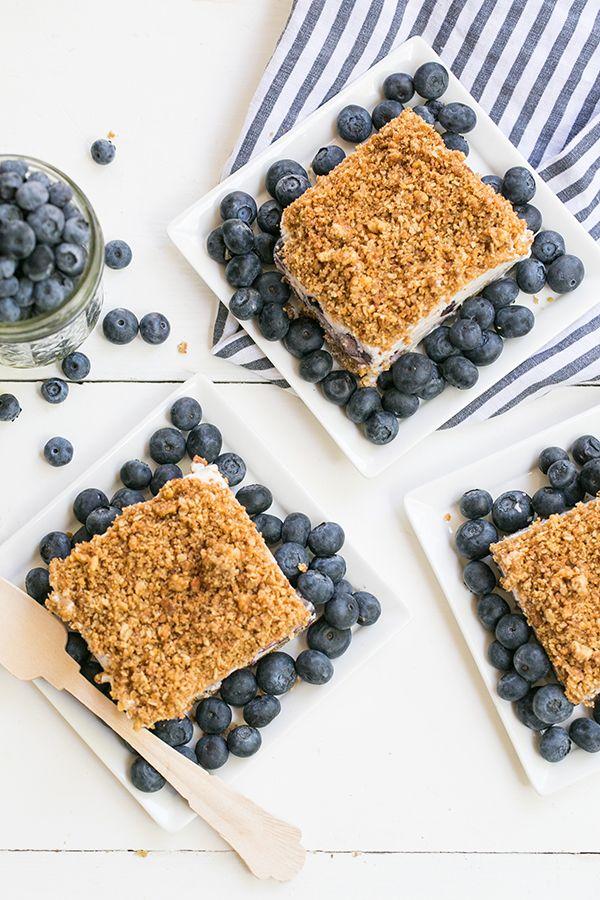 Blueberry Crunch Icebox Cake