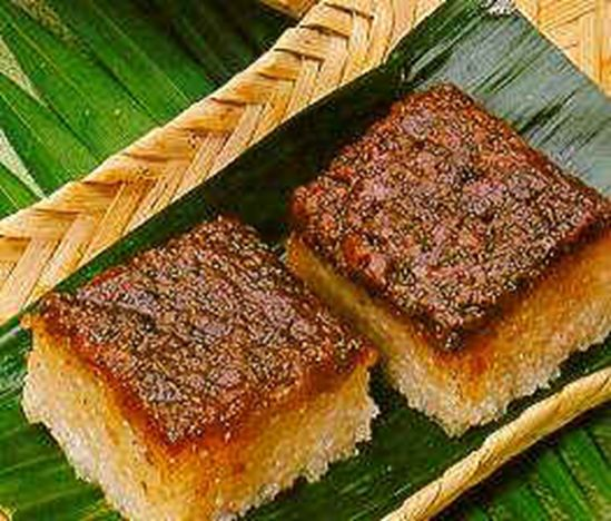 """Biko is a rice cake with caramel topping or latik.  Biko Recipe, consists of malagkit (glutinous) rice, coconut milk, sugar, and topped with """"latik""""."""