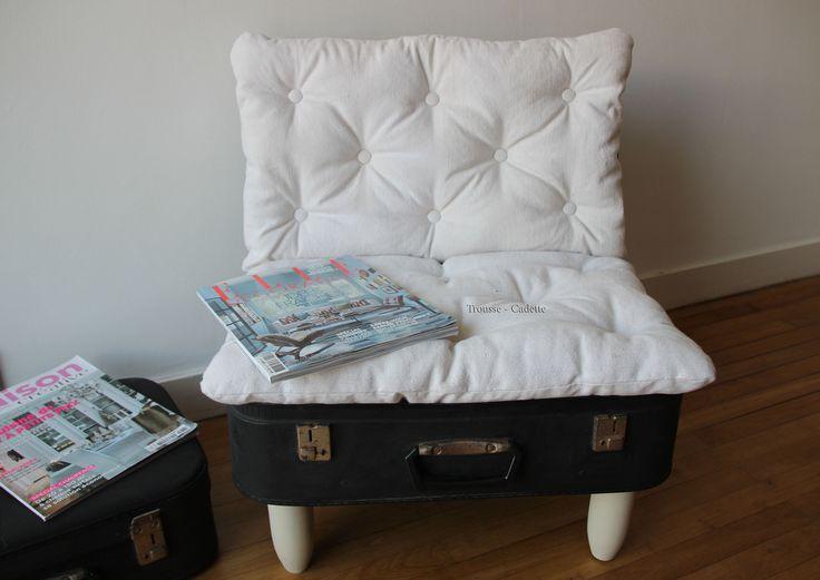 Les 25 meilleures id es de la cat gorie chaise de valise sur pinterest - Petit fauteuil d appoint ...