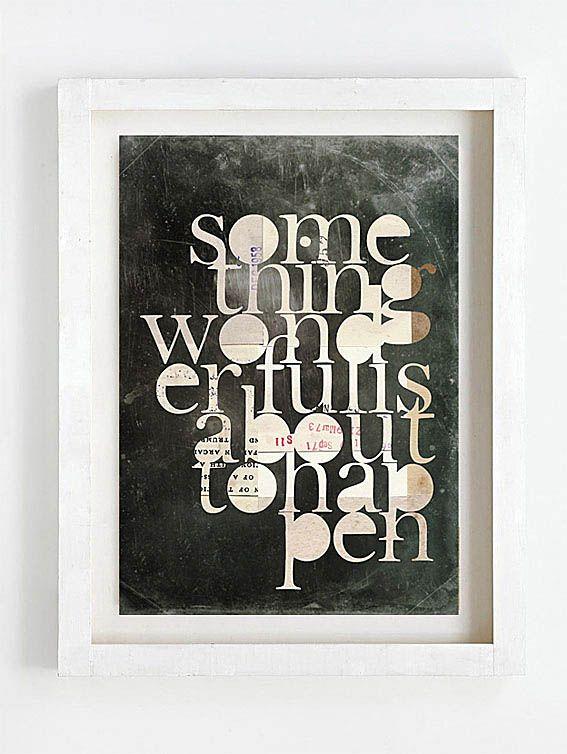 Print by Sophie Klerk, 'something wonderful is about to happen'
