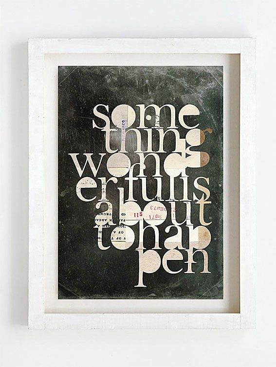 Print by Sophie Klerk, 'something wonderful is about to happen'