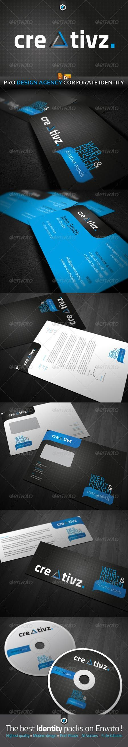 GraphicRiver RW Creativz Design Agency Corporate Identity 409153