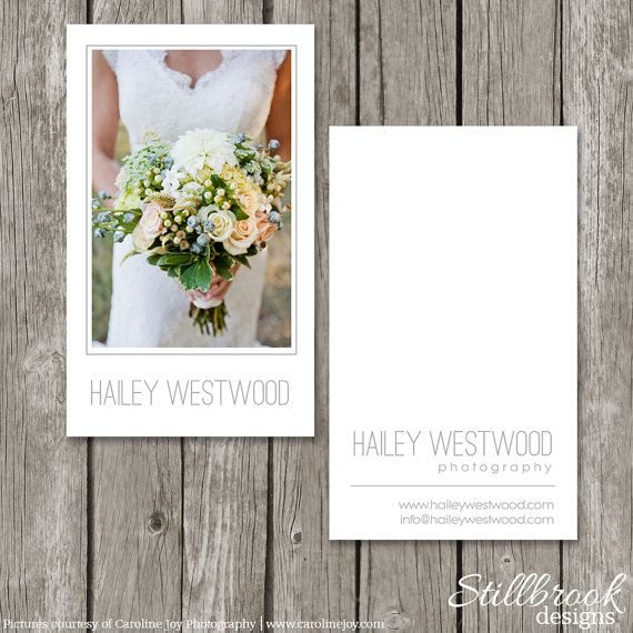 Vertical Business Card - Photography Business Card Template for Wedding Photographers - BC12