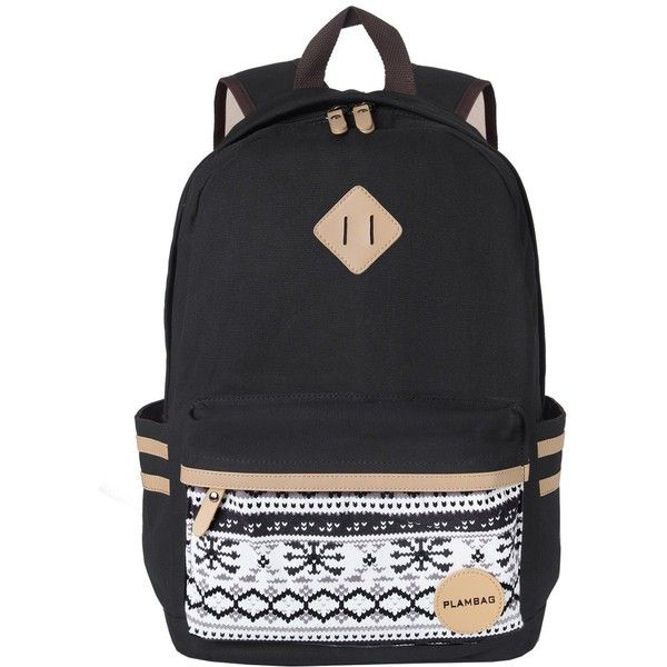 Plambag Causal Style Lightweight Canvas Cute Backpacks School Backpack ($31) ❤ liked on Polyvore