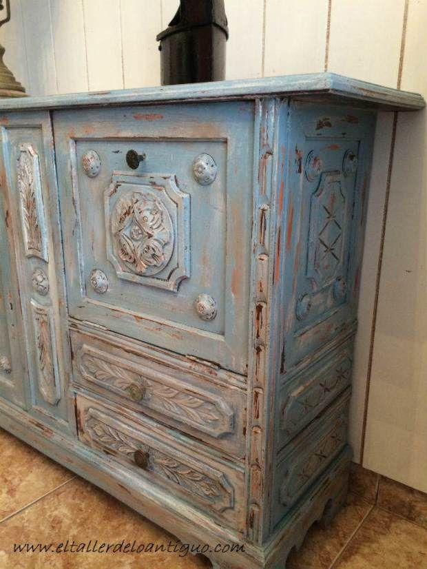 mejores 793 imágenes de diseÑos en pinterest | muebles, muebles ... - Decoupage En Muebles Tutorial