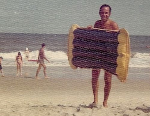 Beach rafts in the 70s