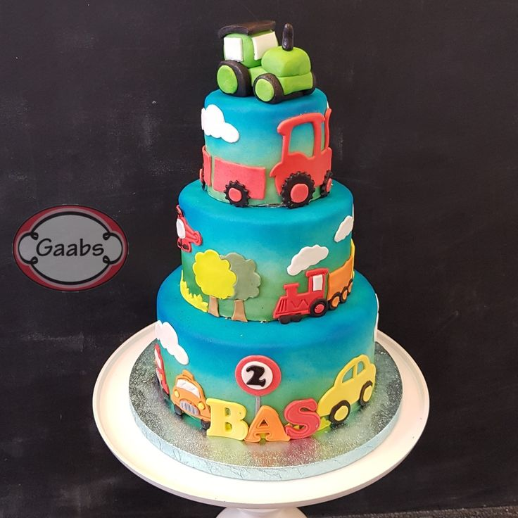 Vehicle cake with cars