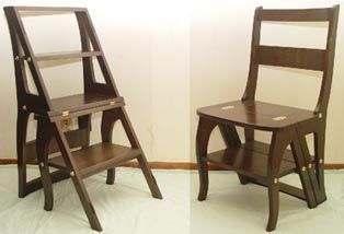 'Franklin' Library step chair - by Don Johnson @ LumberJocks.com ~ woodworking community