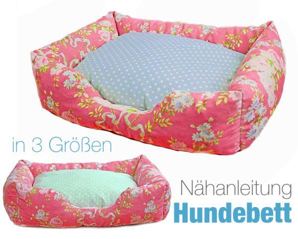 Auch Vierbeiniger lieben kuschelige Tierbetten. Näh Deiner Katze oder Deinem Hund mit diesem Schnittmuster ein angenehm weiches Bett. Fang gleich an.