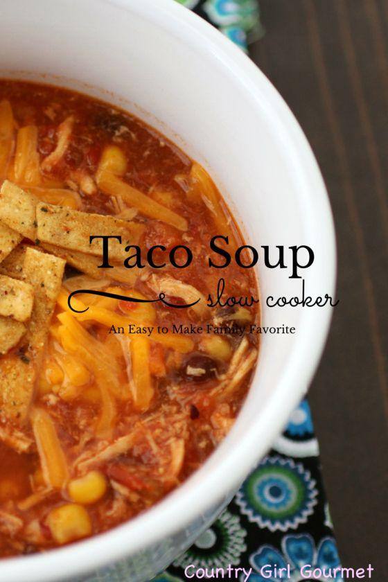 Are you looking for a new soup that is sure to become a family favorite? Try this Slow Cooker Taco Soup.