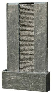 """32"""" Flat Rock Waterfall Fountain - traditional - Outdoor Fountains - Soothing Company"""