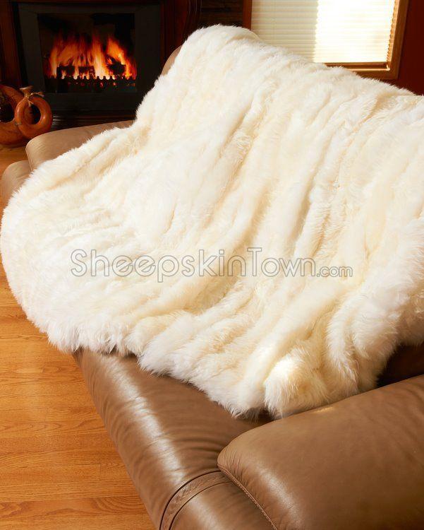 White Sheepskin Blanket : Sheepskin Blankets $799