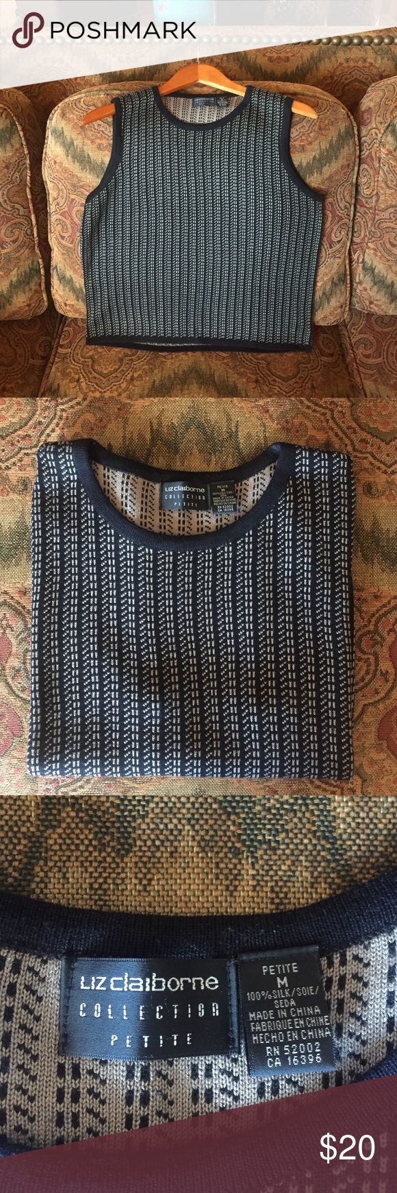 Sleeveless sweater Beautiful pattern Liz Claiborne sleeveless sweater. Liz Claiborne Sweaters Crew & Scoop Necks
