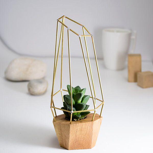 Handmade Faceted Planter /