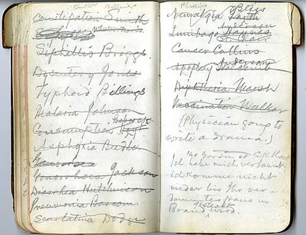mark twain's notebook - archives & historical documents