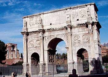 """Arch of Constantine, A.D. 315 (Forum, Rome). If you are a Christian, were raised a Christian, or simply belong to a so-called """"Christian nation,"""" ponder this arch. It marks one of the great turning points in history — the military coup that made Christianity mainstream. As the sun set on October 27, 312, two rival Roman armies were preparing to face off outside Rome to determine the next ruler. Emperor Constantine gazed into the sun and saw a mysterious sign, convincing him that the…"""