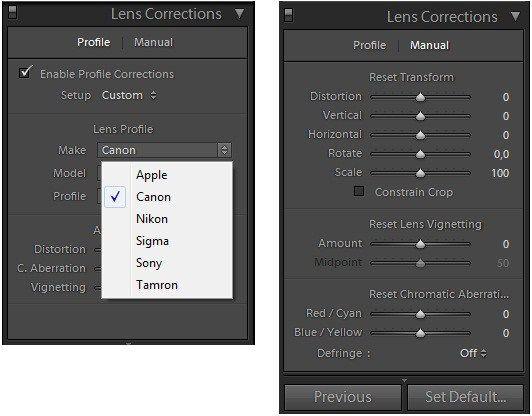 Photoshop Lightroom 3: Automatikus lencsekorrekció