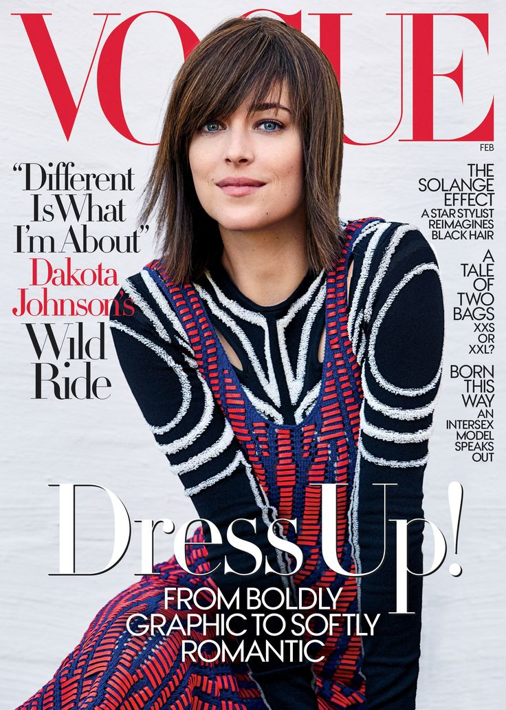 Dakota Johnson wears Proenza Schouler on the cover of the February 2017 issue of Vogue Photographed by Patrick Demarchelier