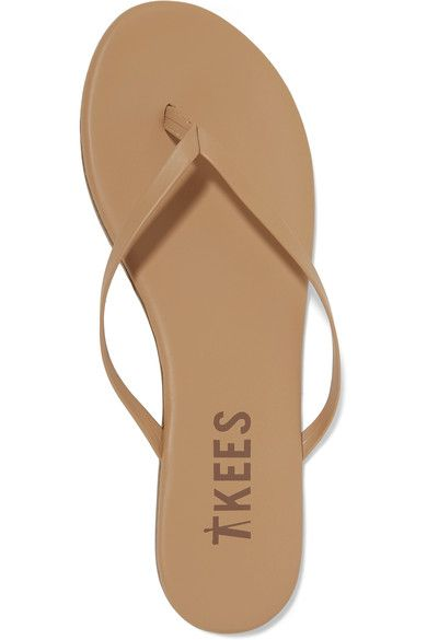 TKEES - Lily Matte-leather Flip Flops - Sand