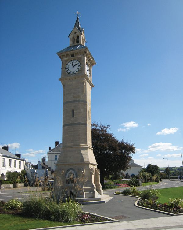 Barnstaple, North Devon. Clock known as 'the four-faced liar' as the clock on each side is different by a minute or two!