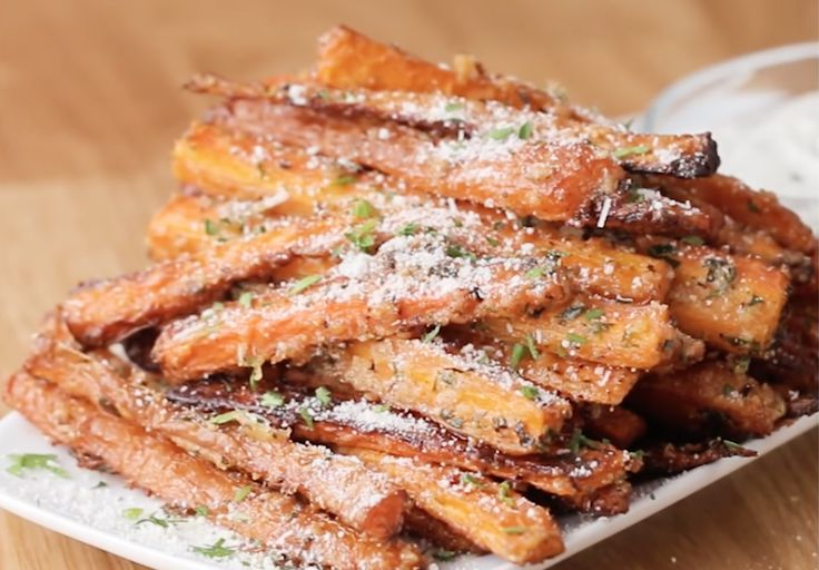 These Garlic Parmesan Carrot Fries Are Almost Too Good To Be Healthy