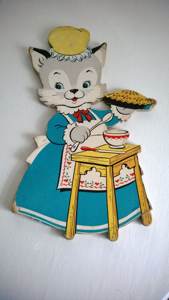 Vintage Nursery Rhyme Wall Decor By Cassandrasnotebook On