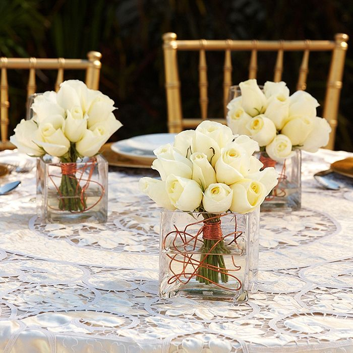 pin by tara gagne on wedding ideas white rose centerpieces rose rh pinterest com