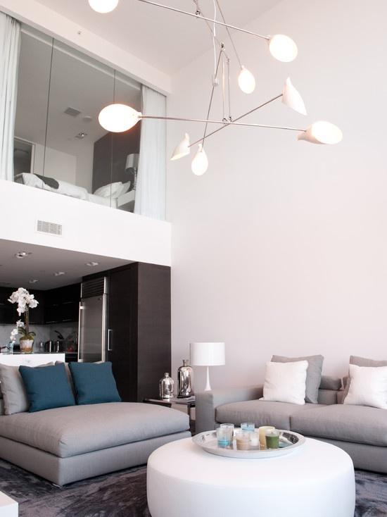 Open Plan Loft Condo Design Living Room Design, Pictures, Remodel, Decor and Ideas - page 6