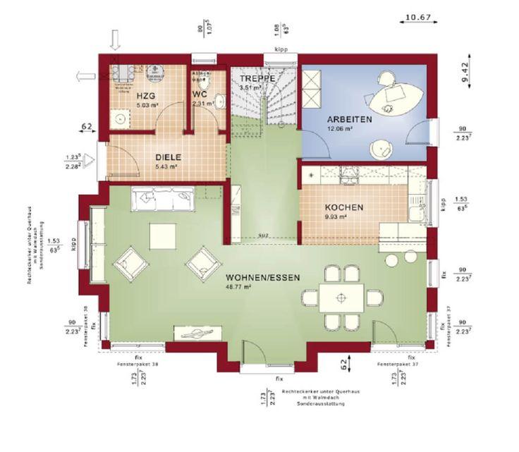 404 besten Häuser und Hauspläne Bilder auf Pinterest Fassaden - offene kuche wohnzimmer grundriss