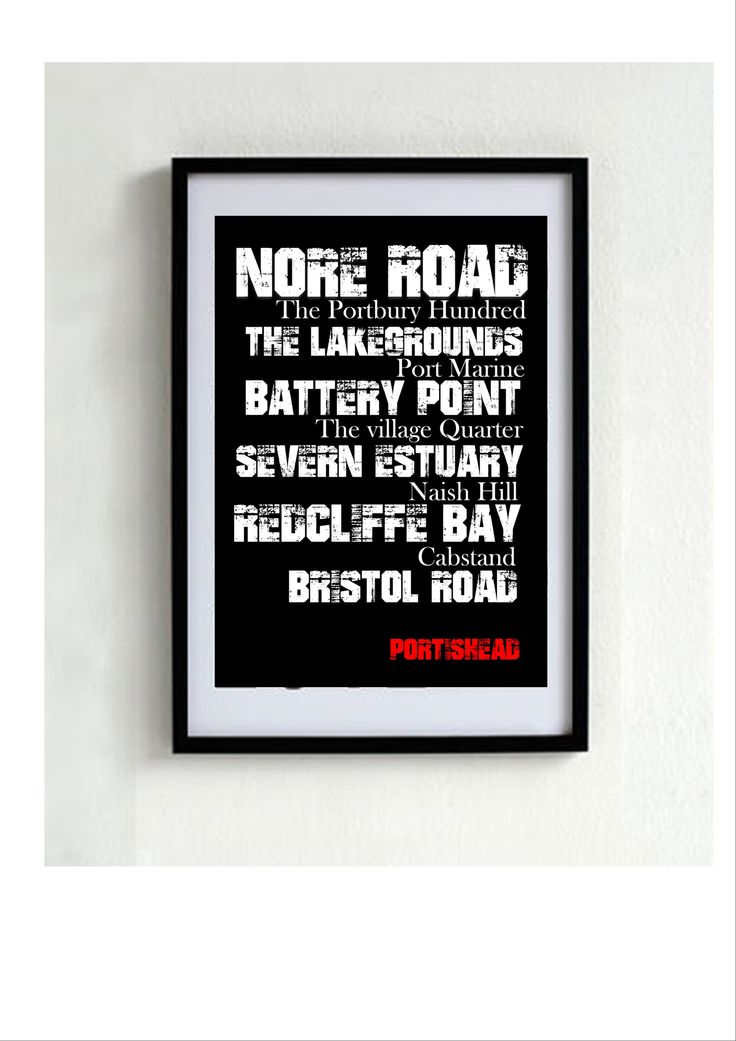 Love is.... Portishead, UK. Have your own bespoke poster of your beloved city or town. Anywhere in the world! Framed or unframed.