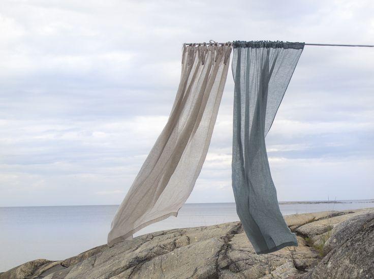 HIMLA living, dalsland curtains #himla_ab #himla #curtains #ocean #dalsland