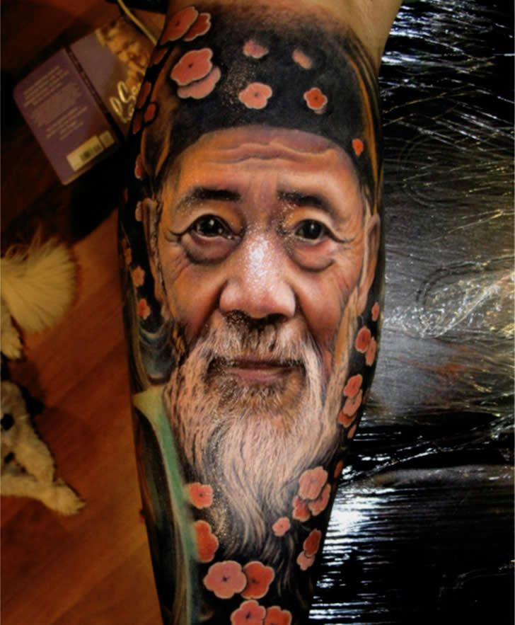 Realistic tattoos it isn t mr miyagi pictures of for Clean rock one tattoos