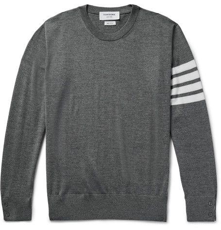THOM BROWNE Striped Wool Sweater. #thombrowne #cloth #knitwear