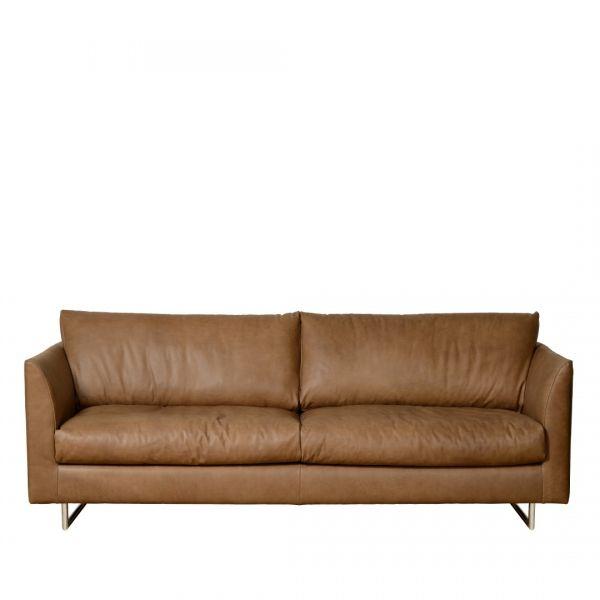 Charrell Home Interiors - SOFA ALEX 3 ZIT - SOFA ALEX 3 ZIT - lederen sofa in bruine kleur