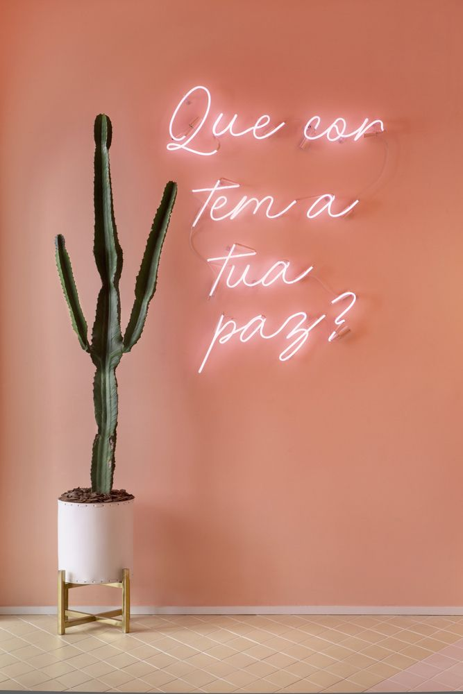 Gallery of How Neon Lighting Shapes Architecture - 14 Bar Deco, Neon Gas, Coffee Shop Interior Design, Neon Words, Pastel Interior, Nail Designer, Boutique Interior, Mocca, Nail Shop