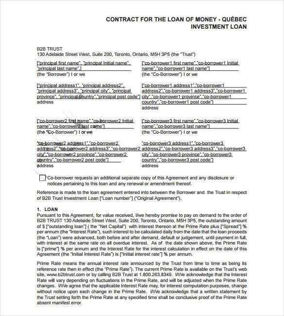 266 best agreement template images on Pinterest Pdf, Resume - personal loan template word