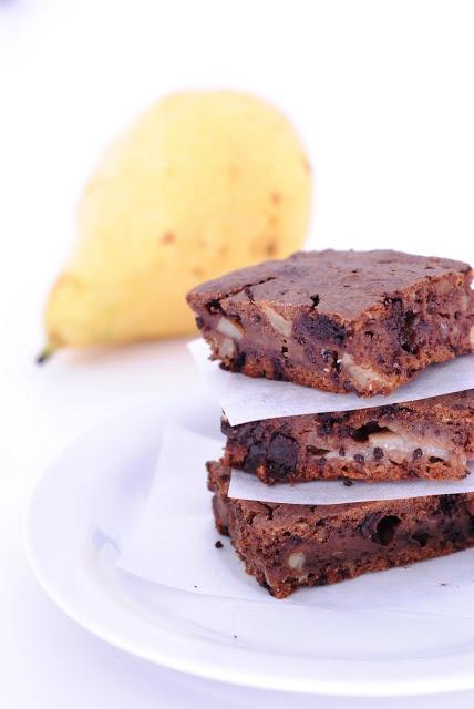 Brownies alla pera e alla banana
