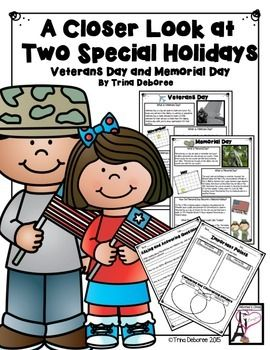 Memorial Day Comparing and Contrasting Holidays- This close-read resource…