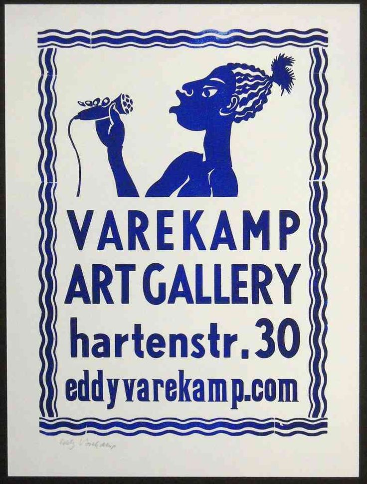 Singer poster - Linocut and wooden letterpress