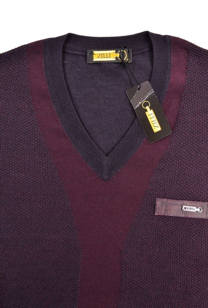9a8cdc5f1cc8a8 $1400 NWT ZILLI Sangria Knit Cashmere Silk Alligator V-Neck Sweater 46 XS  36 #fashion #clothing #shoes #accessories #mensclothing #sweaters (ebay  link)