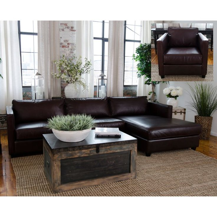 Elements Fine Home Urban Leather Sofa Set - URB-2PC-LAFL-RAFC-SC-CAPP-1