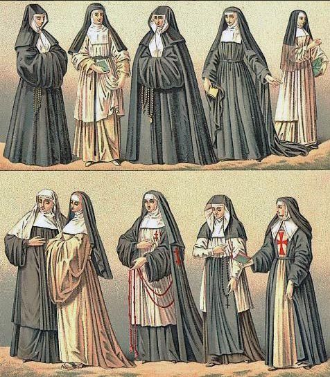What all the cool nuns in the 18th century were wearing
