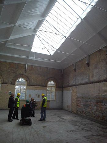 Come see progress turning the station parcels office into art studios 10-1 Sat #coastival