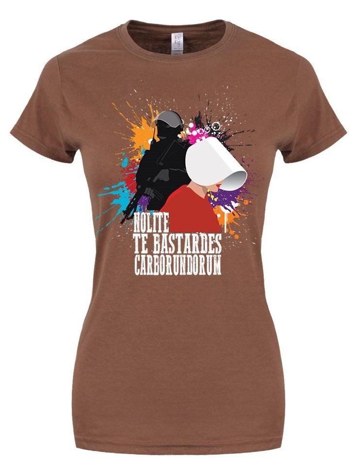 >> Click to Buy << Nolite Te Bastardes Carborundorum Women's Brown T-shirt #Affiliate