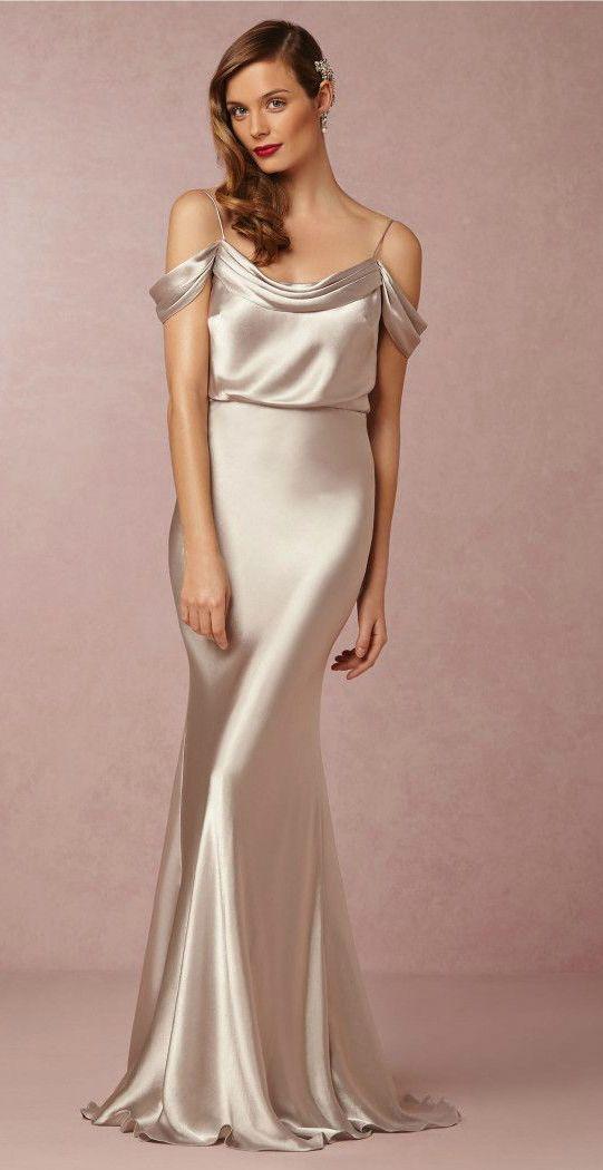 Liquid silk bridesmaid dress from BHLDN                                                                                                                                                      More