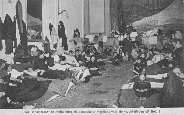 Belgische vluchtelingen in Middelburg