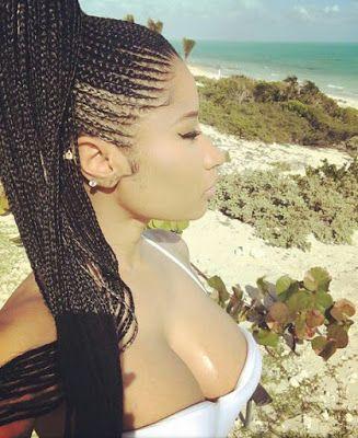 The Glam Life: Nicki Minaj Stuns in Ghana braids hairstyle, see p...