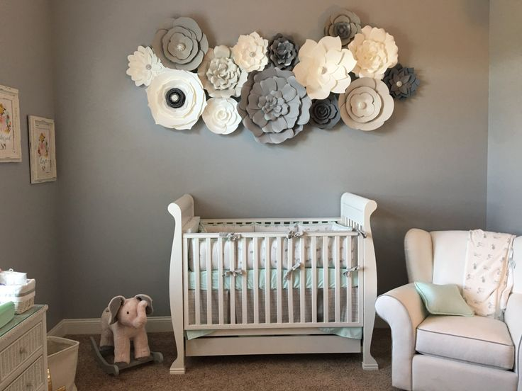 Items Similar To Paper Flower Art Nursery Decor Baby Room Home